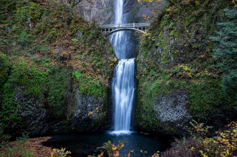 Geography Story: #7 The Benson footbridge above Multinomah Falls