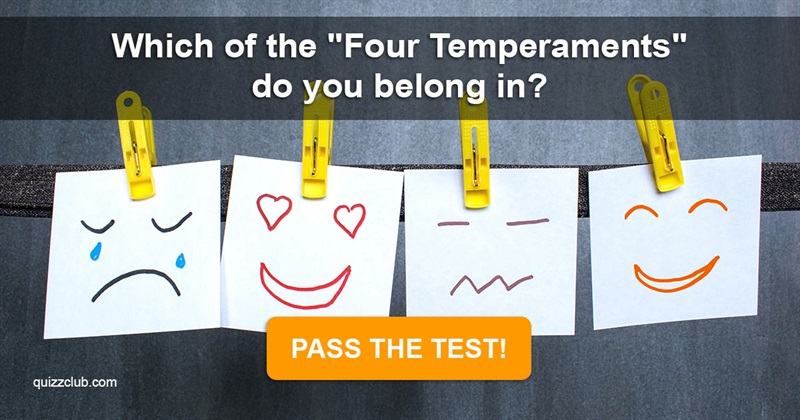 """Quiz Test: Which Of The """"Four Temperaments"""" Do You Belong In?"""