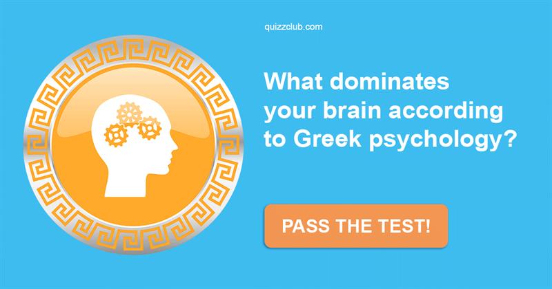 Quiz Test: What Dominates Your Brain According To Greek Psychology?