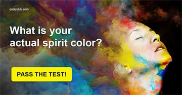 Quiz Test: What Is Your Actual Spirit Color (Based On Science)?