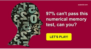 Personality Quiz Test: 97% Can't Pass This Numerical Memory Test, Can You?