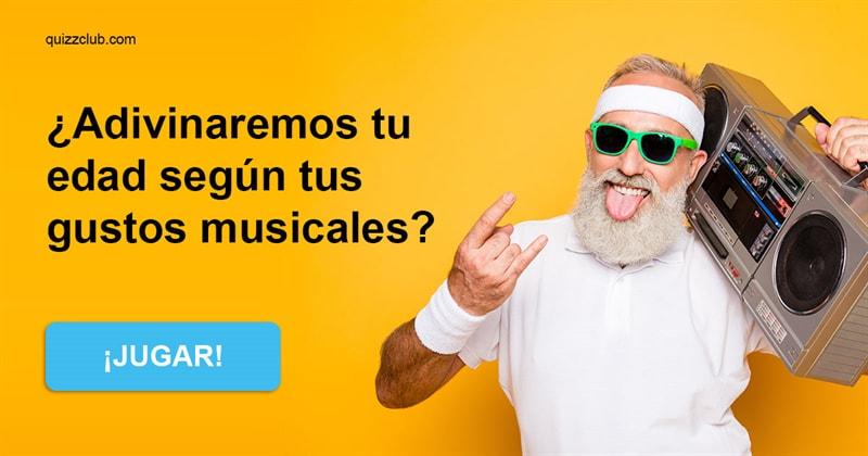 Cultura Quiz Test: ¿Adivinaremos tu edad según tus gustos musicales?