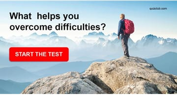 Personality Quiz Test: What  helps you overcome difficulties?