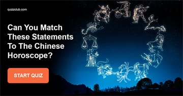 Personality Quiz Test: Can You Match These Statements To The Chinese Horoscope?
