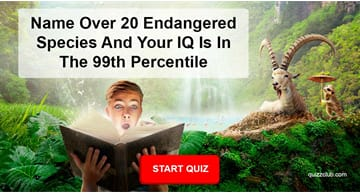 animals Quiz Test: Name Over 20 Endangered Species And Your IQ Is In The 99th Percentile