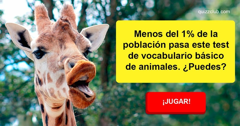 Сiencia Quiz Test: Vocabulario básico de animales