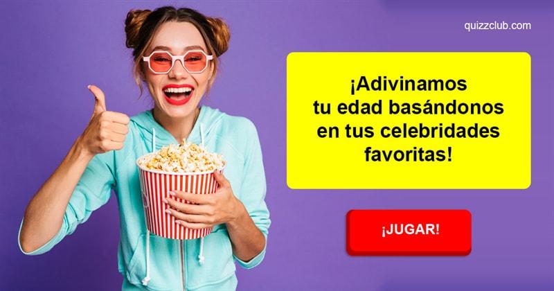 Películas y TV Quiz Test: ¡Adivinamos tu edad basándonos en tus celebridades favoritas!