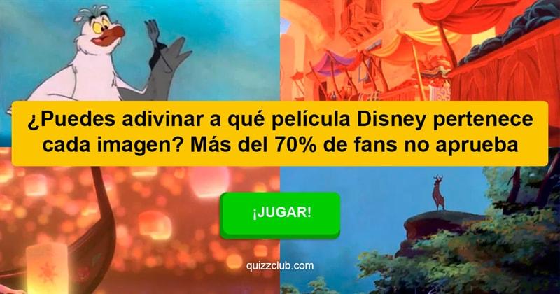Películas y TV Quiz Test: ¿Puedes adivinar a qué película Disney pertenece cada imagen? Más del 70% de fans no aprueba