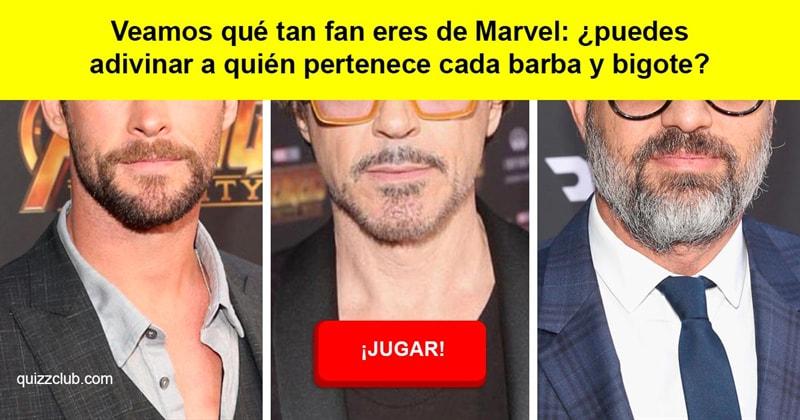 Películas y TV Quiz Test: Veamos qué tan fan eres de Marvel: ¿puedes adivinar a quién pertenece cada barba y bigote?