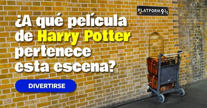 Películas y TV Quiz Test: ¿A qué película de Harry Potter pertenece esta escena?