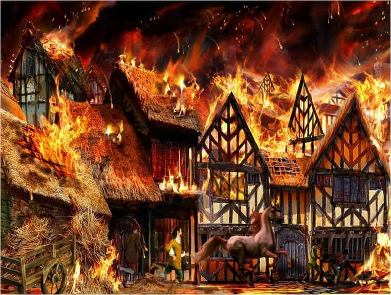 History Trivia Question: What year was the great fire of London?