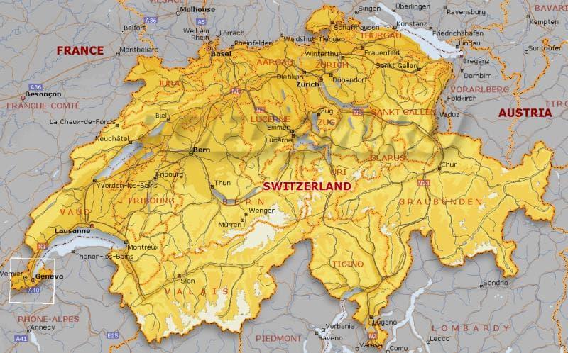 География Вопрос: Как называются административные единицы, из которых состоит Швейцарская конфедерация?