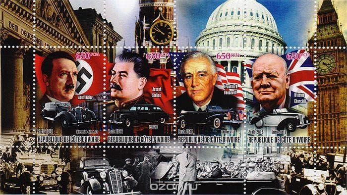 Общество Вопрос: Кто из руководителей четырех основных стран - участниц Второй мировой войны был самым высоким?