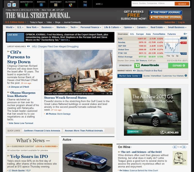 Culture Trivia Question: When did the Wall Street Journal publish its first edition?
