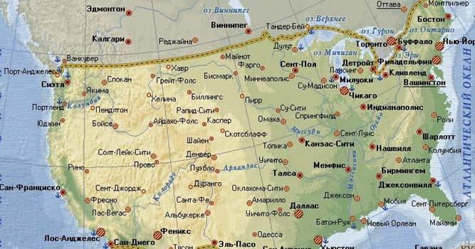 География Вопрос: Известно , что американский штат Мэн граничит только с одним штатом. А у какого (каких) штатов максимальное количество соседей?