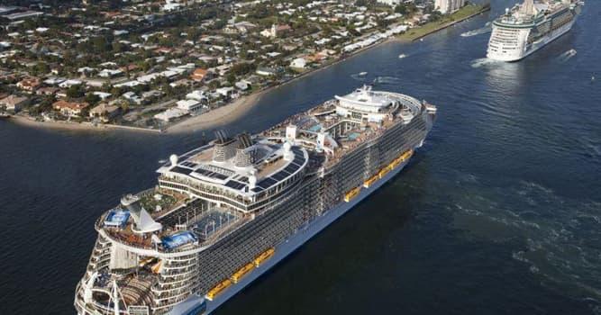 Общество Вопрос: Какое круизное судно является в настоящее время самым большим пассажирским судном в мире?