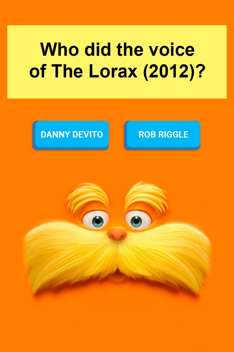 Who Did The Voice Of The Lorax 2012 Trivia Answers Quizzclub