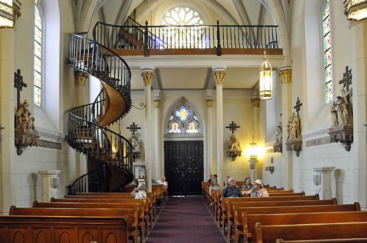"Culture Trivia Question: In which city is the ""miraculous staircase"" located?"