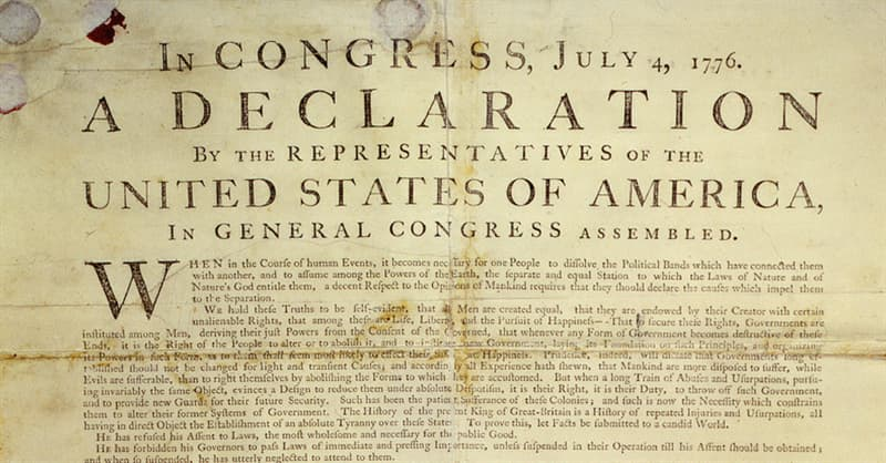 Society Trivia Question: What is written on the back of the Declaration of Independence?