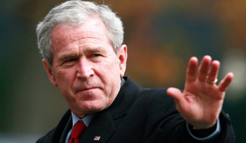 "History Trivia Question: President George W. Bush often used the term ""axis of evil"". Which of these four countries had no bearing on the subject?"