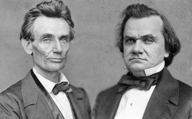 History Trivia Question: The famous Lincoln-Douglas debates were held in what year and for what public office?