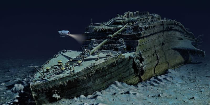 History Trivia Question: The wreck of the Titanic was discovered during a search for what?