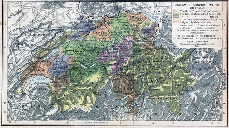 Society Trivia Question: What are the 26 areas called that make up the Swiss Confederation?