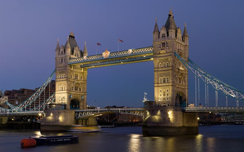 History Trivia Question: What is the total length of Tower Bridge in London, England?