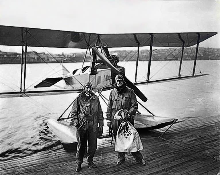 History Trivia Question: The world's first official airmail flight  took place in 1911. Where?