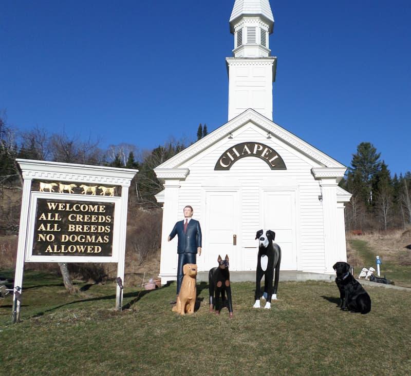 Общество Вопрос: В каком штате была построена часовня в честь пяти собак?