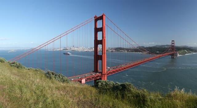 """География Вопрос: Какой город США в народе известен как """"Город Золотых ворот""""?"""