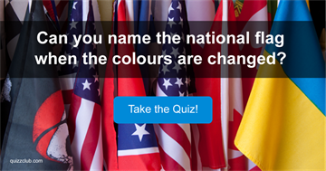 Can you name the national flag when the colours are changed?