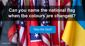 Geography Quiz Test: Can you name the national flag when the colours are changed?