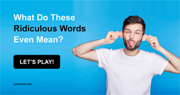 Quiz Test: What Do These Ridiculous Words Even Mean?