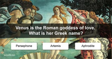 Culture Quiz Test: Can You Name The Greek Version Of The Roman Gods?