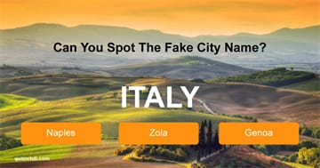 Geography Quiz Test: Can You Spot The Fake City Name?