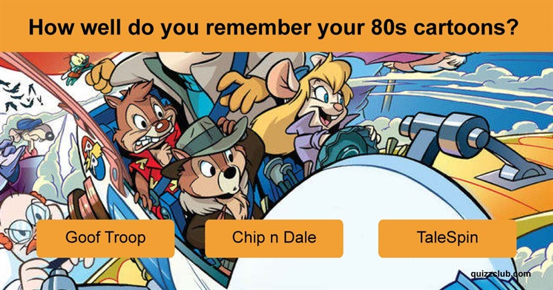 Movies & TV Quiz Test: How Well Do You Remember 80s Cartoons?