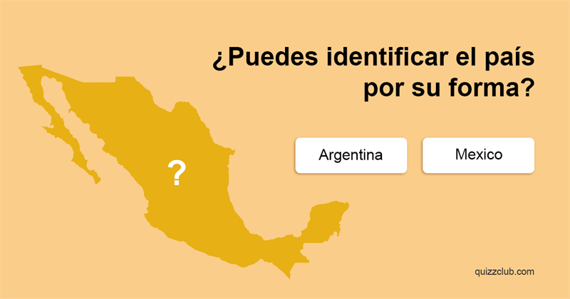 Geografía Quiz Test: ¿Puedes  identificar el país por su forma?
