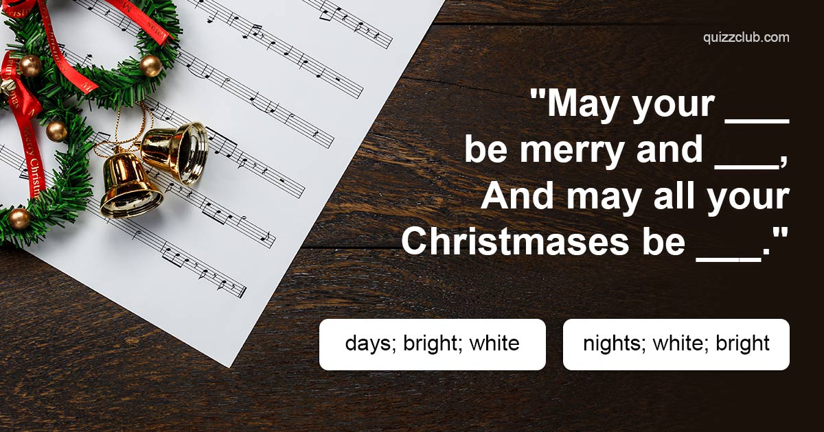 The Hardest Christmas Lyrics Quiz    | Trivia Quiz | QuizzClub