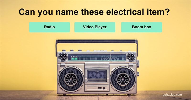 Quiz Test: Can You Name These Electrical Items From The 70s & 80s?