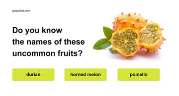 knowledge Quiz Test: Do you know the names of these uncommon fruits?