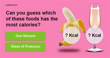 Quiz Test: Can you guess which of these foods has the most calories