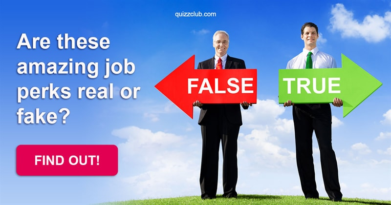 Society Quiz Test: Are these amazing job perks real or fake?