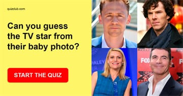 Movies & TV Quiz Test: Can you guess the TV star from their baby photo?