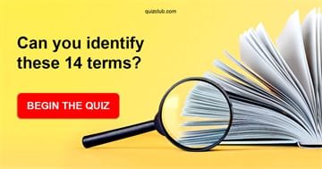 IQ Quiz Test: If You Can Identify These 14 Terms Your Intelligence Is In The 99th Percentile