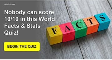 knowledge Quiz Test: Nobody Can Score 10/10 In This World Facts & Stats Quiz!