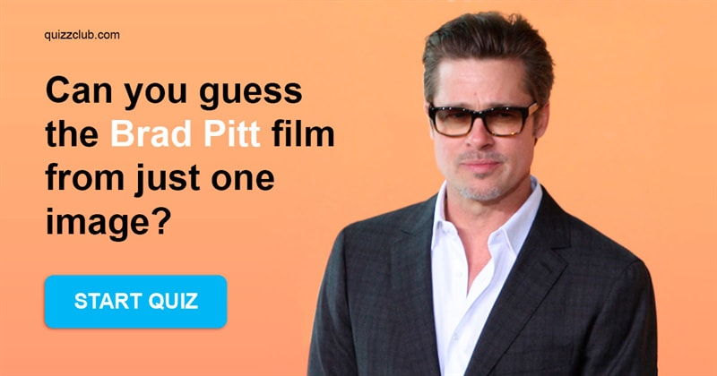 Movies & TV Quiz Test: Can you guess the Brad Pitt film from just one image?