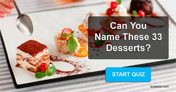 knowledge Quiz Test: Can You Name These 33 Desserts?