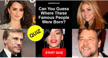 Movies & TV Quiz Test: Can you guess where these famous people were born?
