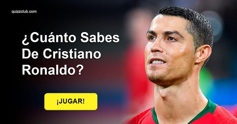 Deporte Quiz Test: ¿Cuánto sabes de Cristiano Ronaldo?